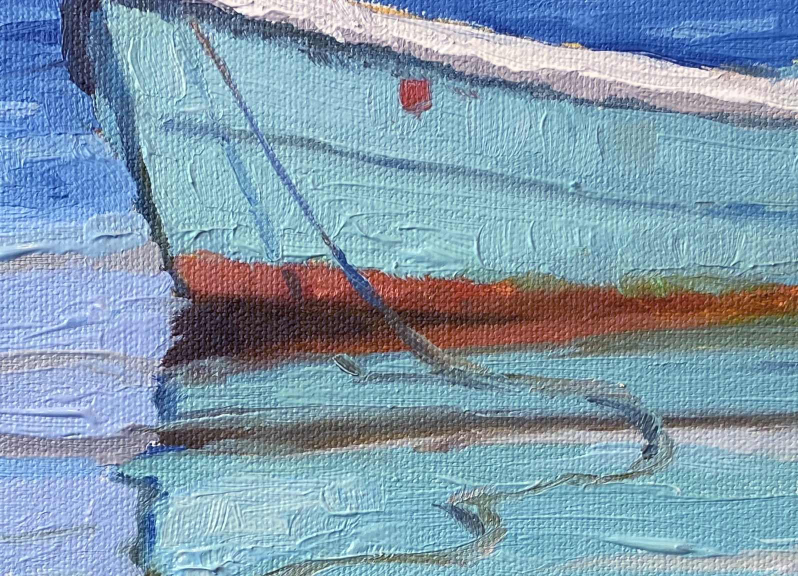 The Provincetown Moors painting detail