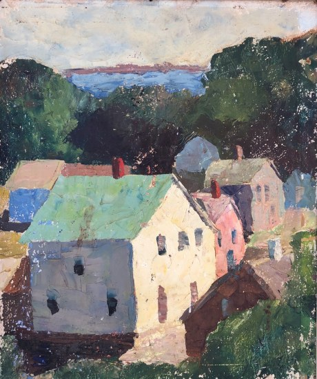 Province Town View circa 1925 from the Walls of Cape Cod School of Art